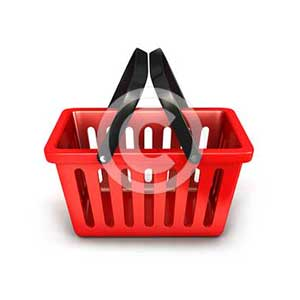 3d empty shopping basket