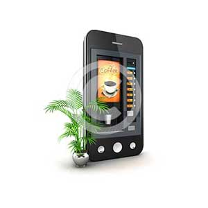3d coffee machine smartphone