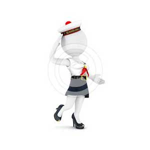 3d white people woman sailor