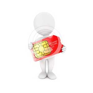 3d white people sim card