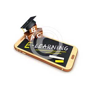 3d e-learning smartphone concept
